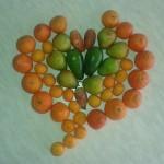 cuore di frutta autunno